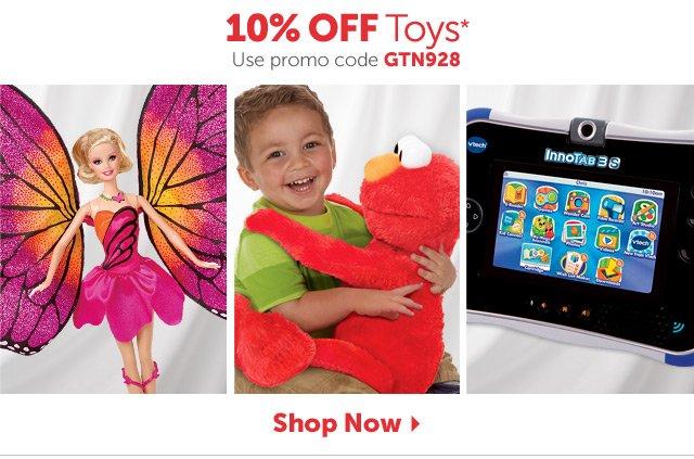 10% OFF Toys* Use promo code GTN928 - Shop Now