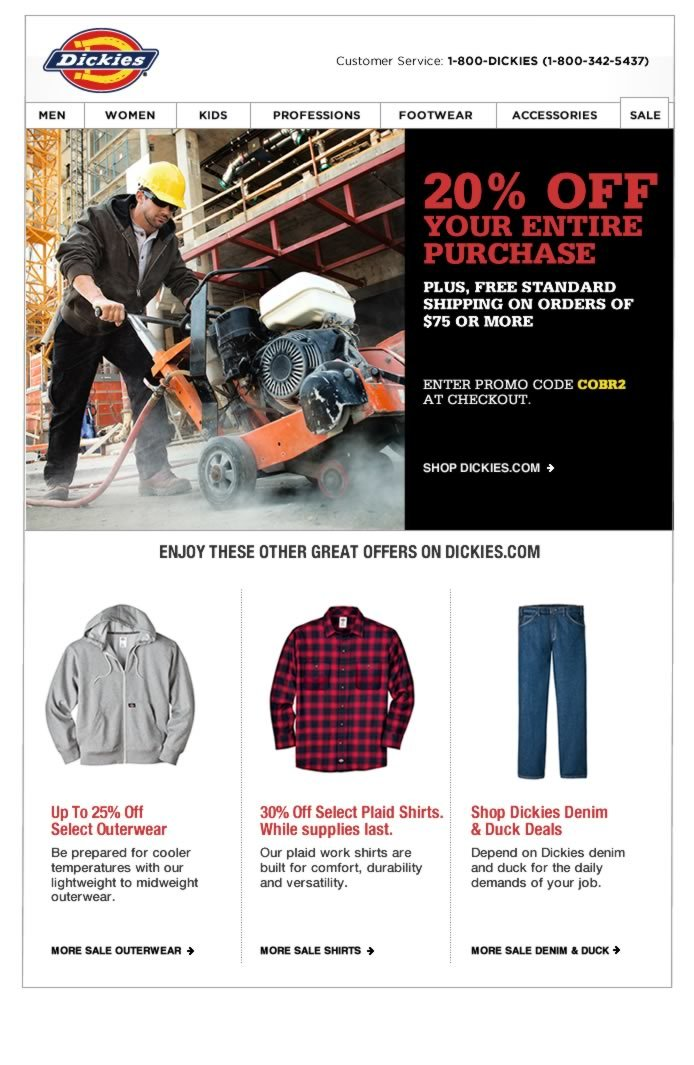 20% OFF Your Entire Purchase, Plus Free Standard Shipping on Orders of $75 or More.  Enter Promo Code COBR2 at Checkout.