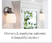 Mirrors & medicine cabinets in beautiful styles