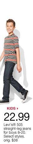 $21.99 Levi's 505 straight-leg jeans for boys. orig. $38
