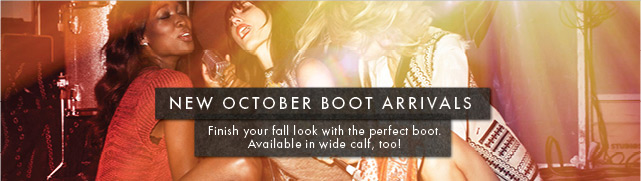 New October Boot Arrivals