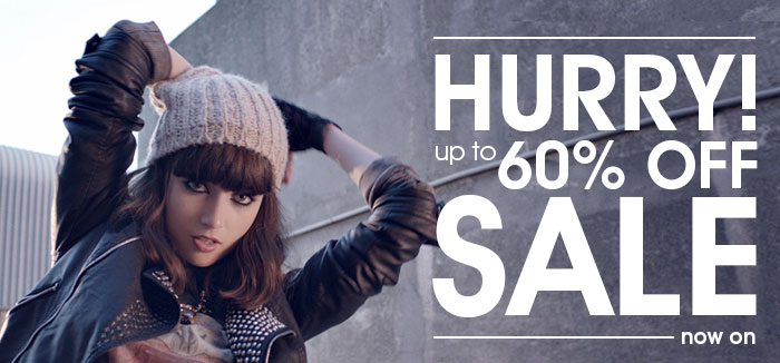 Hurry up to 60% Off Sale Now On