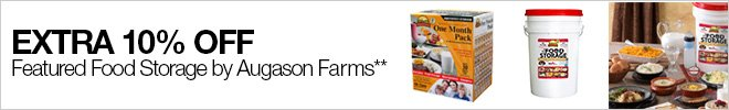 Extra 10% off Featured Food Storage by Augason Farms**