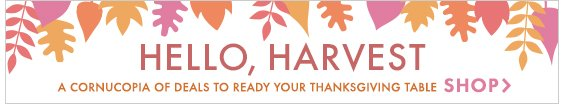 Hello, Harvest! Shop events to ready your Thanksgiving table!
