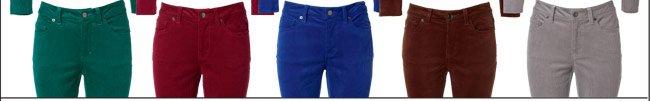 Curvy Fit Corduroy Pants