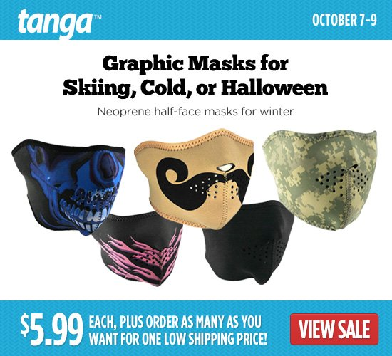 Graphic Masks for Skiing, Cold, or Halloween
