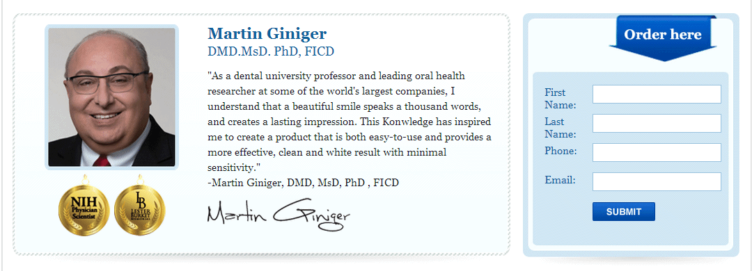 Developed by Martin Giniger DMS, MsD, PhD, FICD