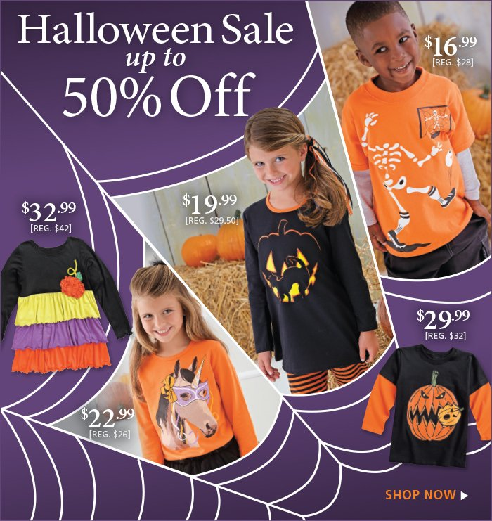 Save up to 50% on Select Halloween Styles