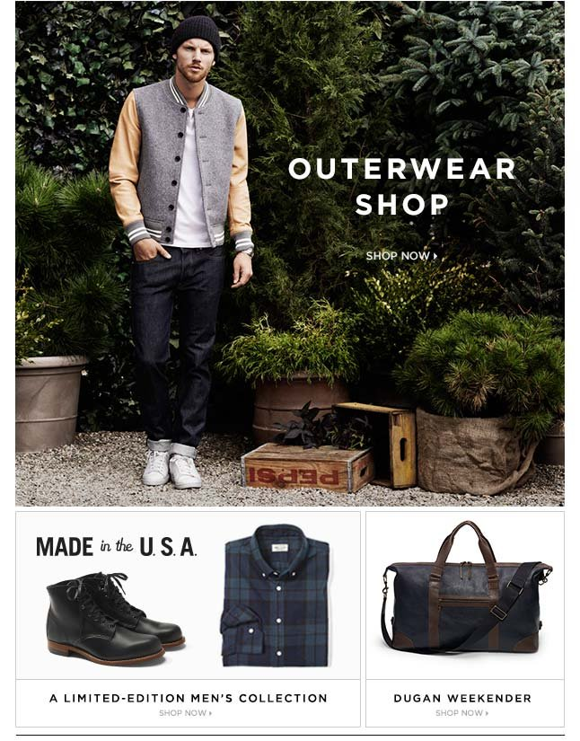 Shop Now: New Outerwear For Men