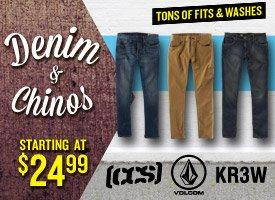 Denim & Chinos Starting at $24.99