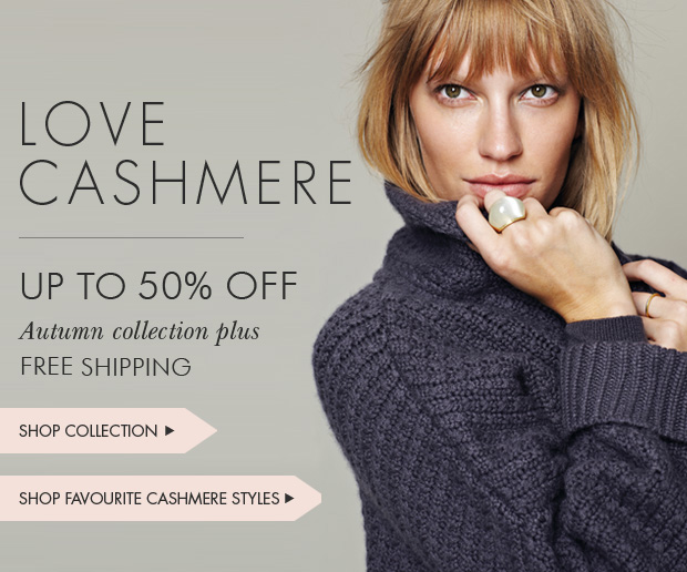 Download Images:  Love Cashmere with up to 50% off plus free shipping