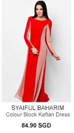 SYAIFUL BAHARIM FOR ZALORA Color Block Kaftan Dress
