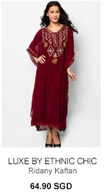 LUXE BY ETHNIC CHIC Ridany Kaftan