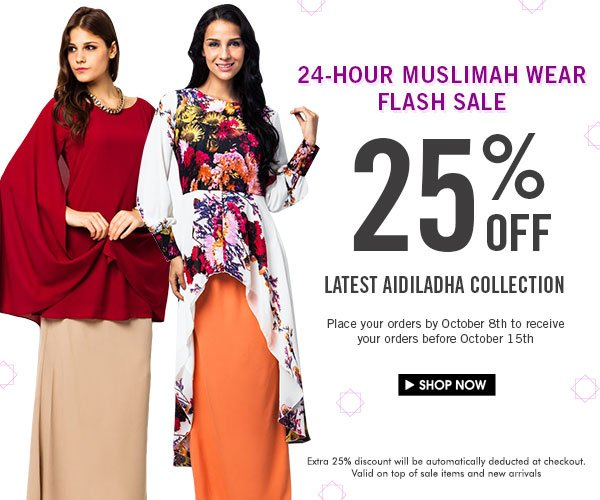 25% off Adiladha collection! 24 hours only!