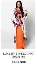 LUXE BY ETHNIC CHIC Qamra Top