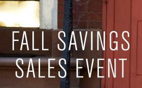 FALL SAVINGS SALES EVENT