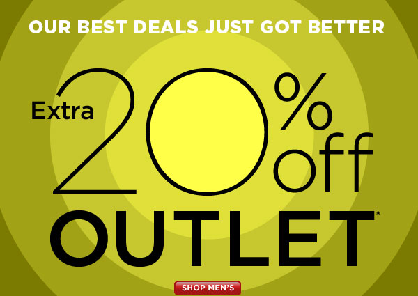 SHOP Men's Outlet 20% Off