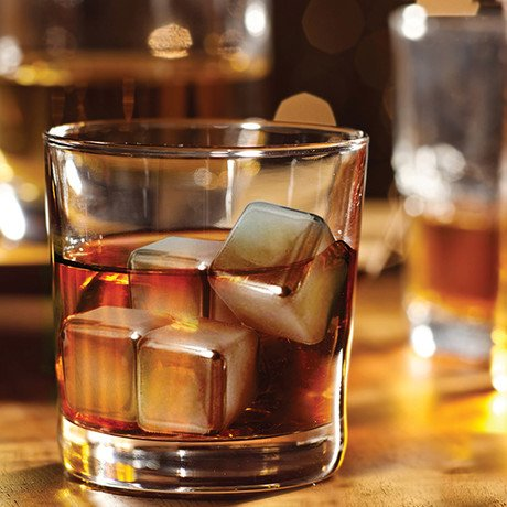 Stainless Steel Ice Cubes // Set of 6
