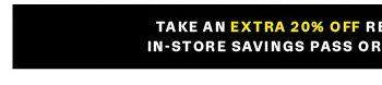 In-store savings pass or