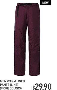 MEN WARM LINED PANTS