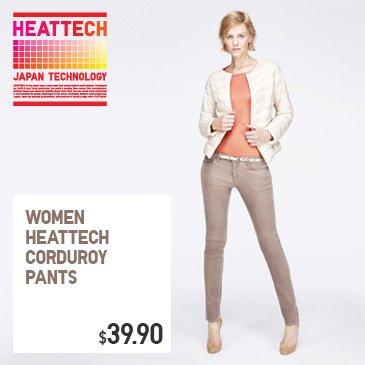 WOMEN HEATTECH CORDUROY PANTS