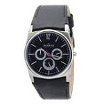 Skagen 759LSLB1 Men's Denmark Brown Dial Black Leather Strap Multifunction Watch