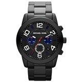 Michael Kors MK8291 Men's Mercer Chronograph Black Dial Black IP Steel Watch
