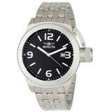 Invicta 0987 Men's Corduba Black Dial Stainless Steel Swiss Watch