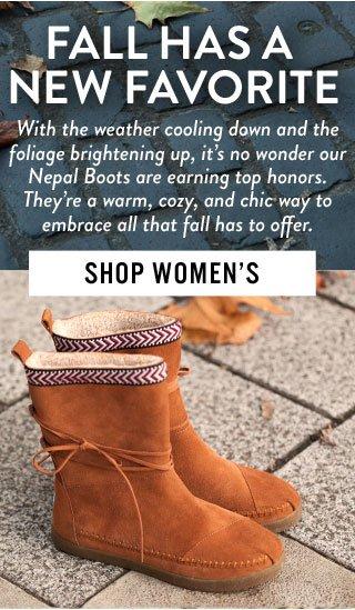 Fall has a new favorite - Shop Women's Nepal Boots