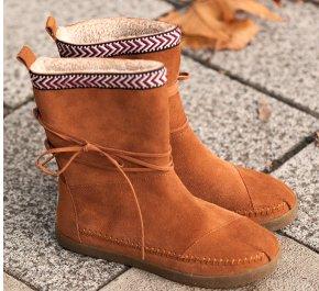 Chestnut Suede Trim Nepal Boots