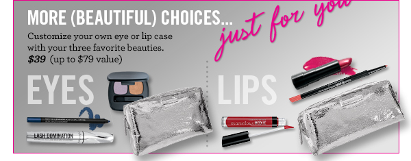 Customize your own lip or eye case
