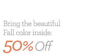 Bring the beautiful Fall color inside.50% Off