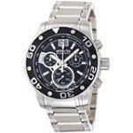 Invicta 0760 Men's Reserve Ocean Speedway Black Big Date Dial Steel Bracelet Chronograph Watch