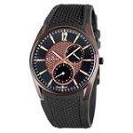 Skagen 435XXLTDRD Men's Denmark Black Dial Brown Titanium Rubber Strap Watch