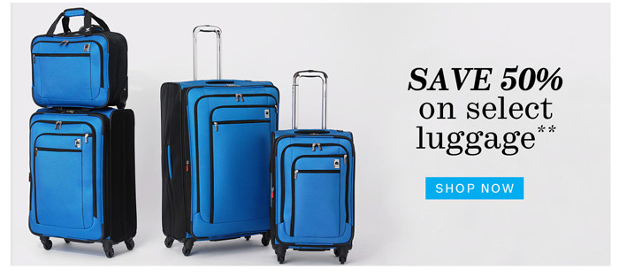Save 50% on select luggage**. Shop Now.
