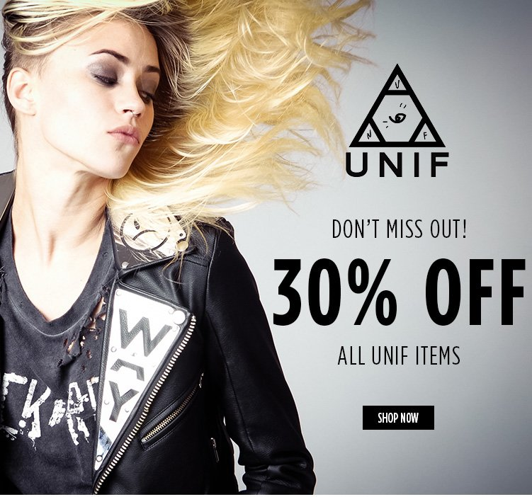 30% OFF UNIF