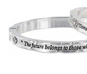The Future Belongs bangle