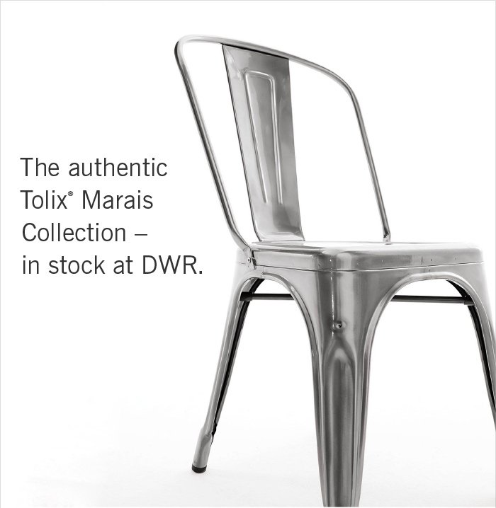 The authentic Tolix® Marais Collection –in stock at DWR