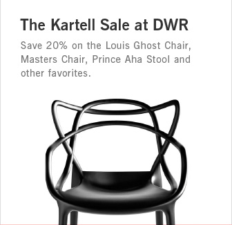 The Kartell Sale at DWR. Save 20% on Louis Ghost, Masters Chair, Prince Aha Stool and other favorites.