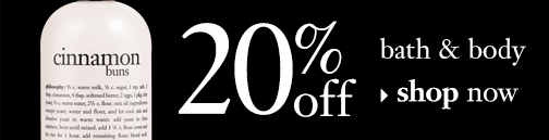20% off bath & body shop now