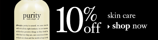 10% off skin care shop now