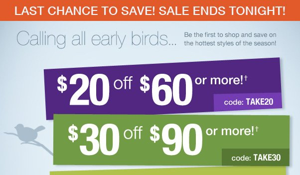 Last Day to Save up to $40 Off!