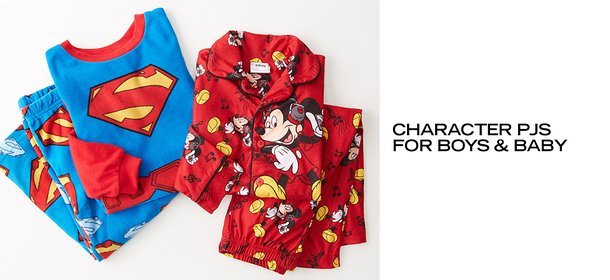 CHARACTER PJS FOR BOYS & BABY, Event Ends October 15, 9:00 AM PT >
