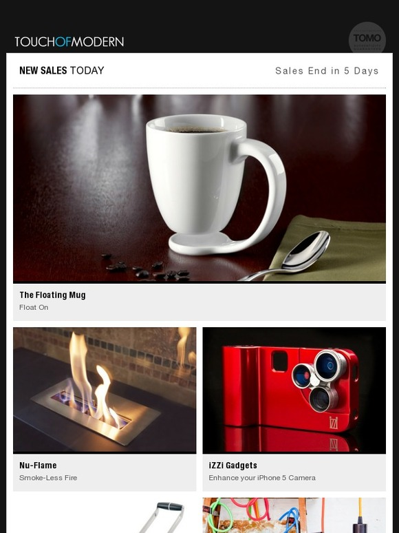 Touch Of Modern The Floating Mug Portable Fireplaces