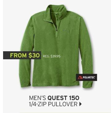 Shop Men's Quest 150 1/4 Zip Pullover