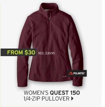 Shop Women's Quest 150 1/4 Zip Pullover