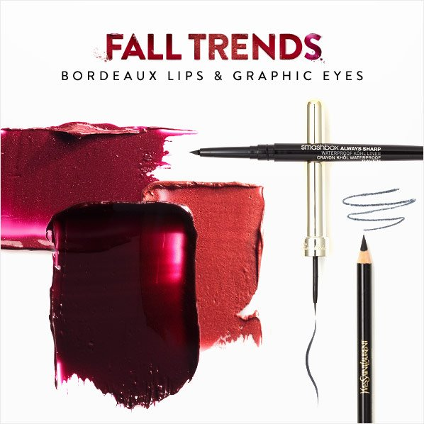 FALL TRENDS - BORDEAUX LIPS & GRAPHIC EYES