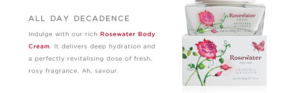 Indulge all day with our rich Rosewater Body Cream.