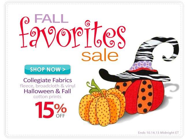 Fall Festival Sale 15% off