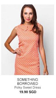 SOMETHING BORROWED Polky Sweet Dress